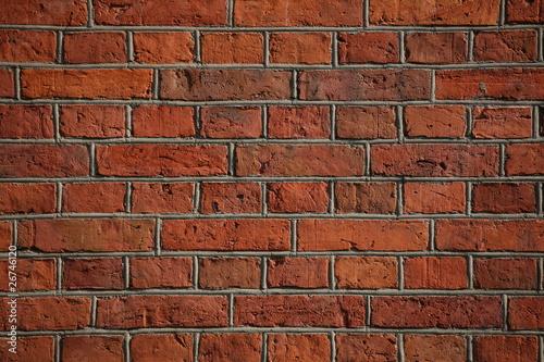Obraz czerwony ceglany mur - fototapety do salonu