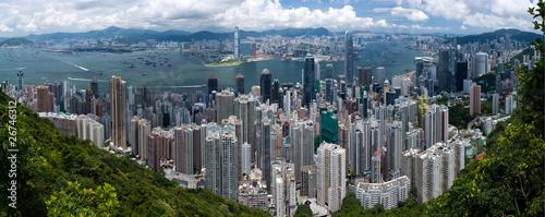 Keuken foto achterwand Hong-Kong Hongkong Panorama Tag