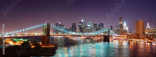 Panoramę Nowego Jorku Manhattan Brooklyn Bridge panorama