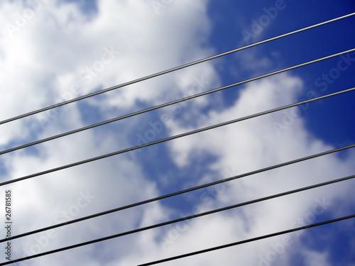 Fototapety, obrazy: Stromleitung