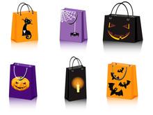 A Set Of Six Halloween Shoppin...