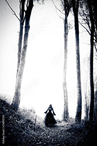 Photo  Nightmare woman in black dress