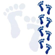 Blue Baby Feet Print
