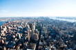 New York city panorama with tall skyscrapers