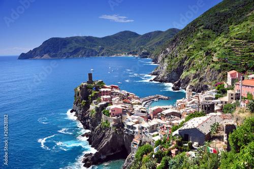 Tuinposter Liguria Vernazza, Cinque Terre, Italy
