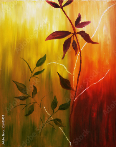 obraz-olejny-z-lisci-jesienia