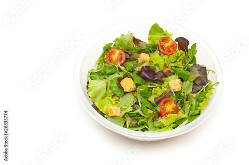 Fotografie, Obraz  salad in a bowl isolated