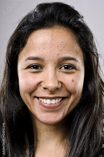 Happy smiling portrait Canvas Print