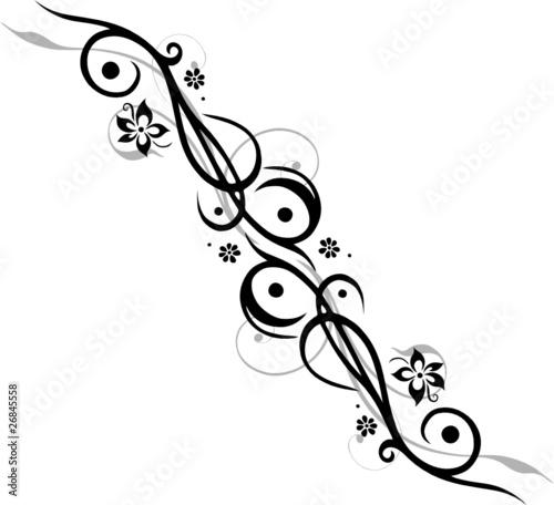 Tattoo Tribal Mit Blumen Blüten Feminin Floral Flora