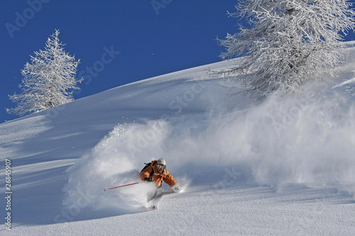 Fotografie, Obraz  Ski hors piste
