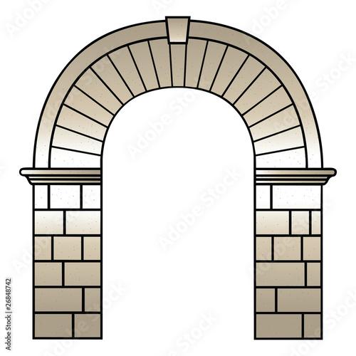 Fotografie, Obraz  Roman archway