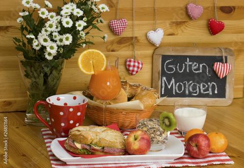 Guten Morgen Frühstück Buy This Stock Photo And Explore