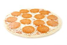 Raw Pepperoni Pizza