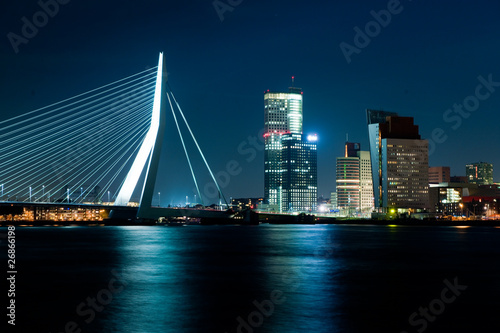 Deurstickers Rotterdam Rotterdam by night