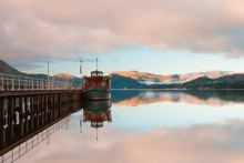 In The Harbour In Lake Dictrict In Great Britain