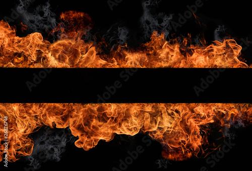 Foto op Plexiglas Vlam Fire wall
