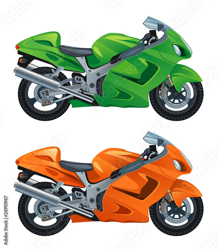 Poster Motocyclette moto