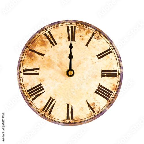 Fotografía  vintage clock on white background