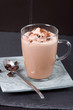 Glas mit Eisschokolade