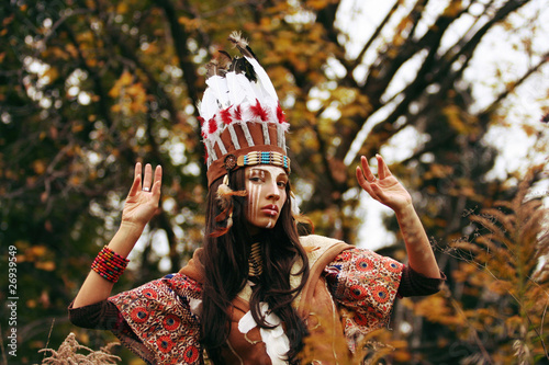 Fotomural Indian girl