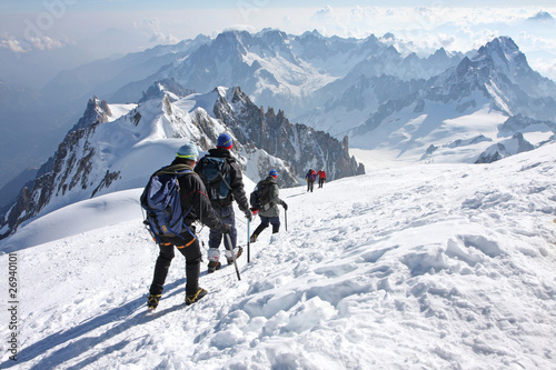 Photo Alpinistes au Mont Blanc
