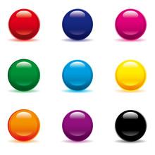 Perles Pastilles Vecteur Couleurs Bonbons