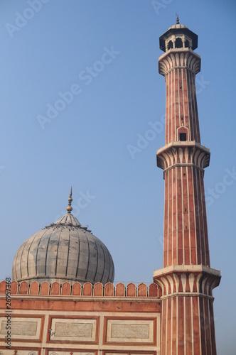 In de dag Delhi grande mosquée de Delhi