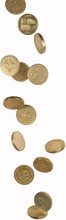Falling Pound Coins