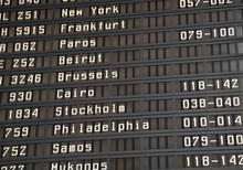Flight Information Board In Airport