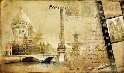 Fototapeta Paris paris.. vintge photoalbum series