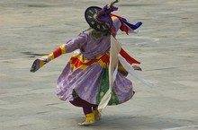 Tsechu Festival Dancer
