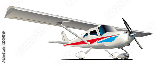 Modern sporting plane Canvas Print