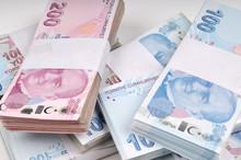 Money Background On White Background.