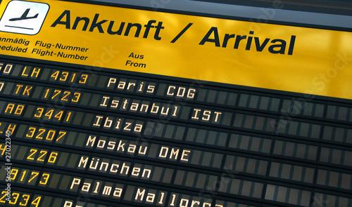 Photo  Arrival Board