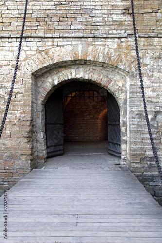 Papiers peints Tunnel Medieval smart gate