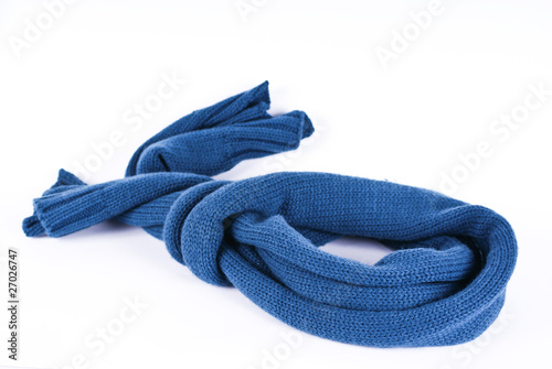 Cuadros en Lienzo Blue scarf on a white background