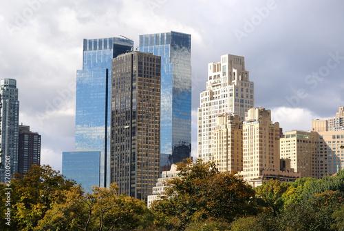 Printed kitchen splashbacks Khaki Skyline of Columbus Circle from Central Park