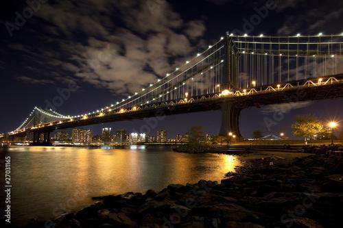 Fototapeta premium Panoramę Nowego Jorku w Manhattan Bridge