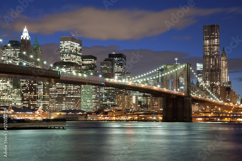 Foto op Aluminium New York New York City skyline- Brooklyn Bridge