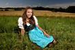 canvas print picture - Mädchen in Bayern