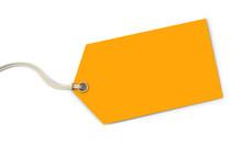 Orange Tag On White Background