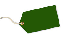 Green Tag On White Background