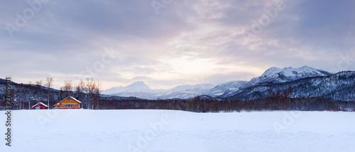 Norwegian winter panorama.