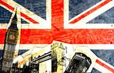 Fototapeta Londyn - drapeau anglais