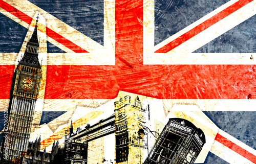Fotografía  drapeau anglais