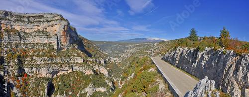 Fotomural les gorges de la Nesque et le Mont-Ventoux
