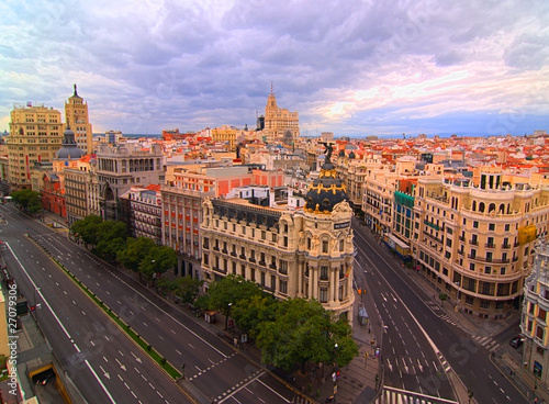 In de dag Madrid Gran via metropolis