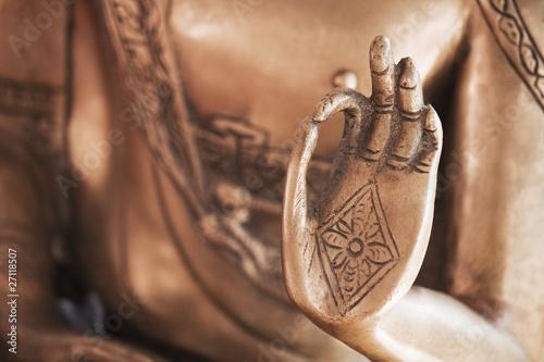Photo  Die Hand des Messing-Buddhas