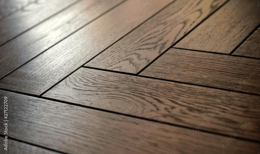 wooden parquet floor - obrazy, fototapety, plakaty