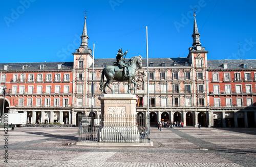 In de dag Madrid Plaza Mayor , Madrid, Spain